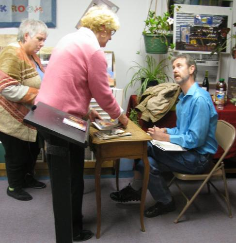 Ron Rash signing The Cove at City Lights Bookstore